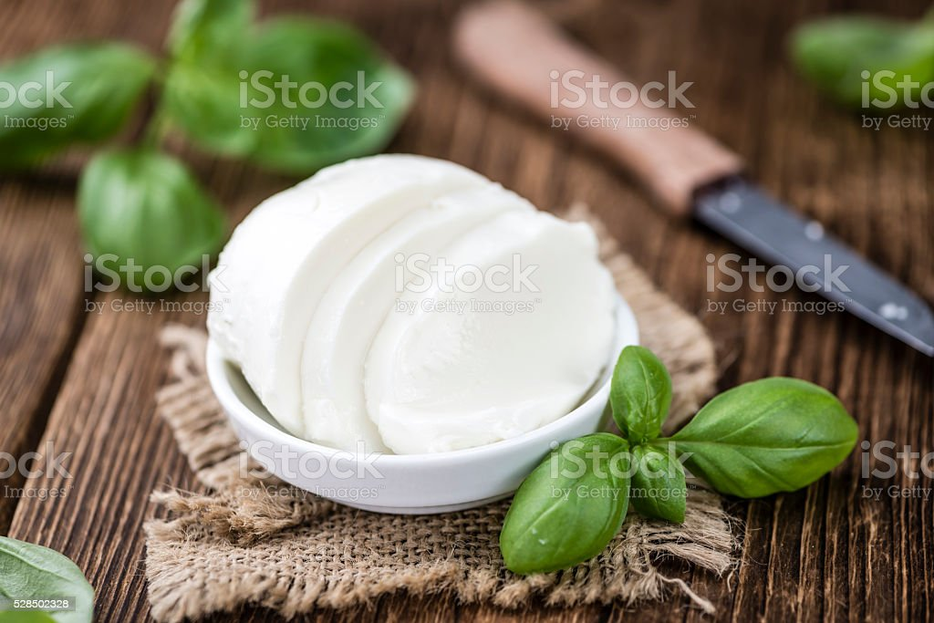 Big Mozzarella Ball (close-up shot) stock photo
