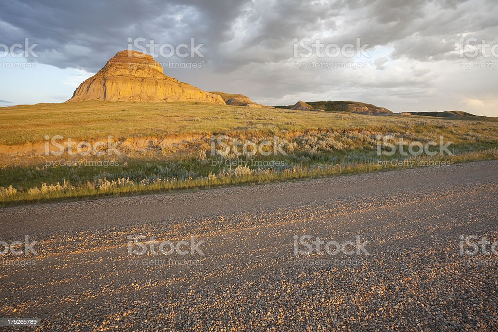 Big Muddy Valley Saskatchewan royalty-free stock photo