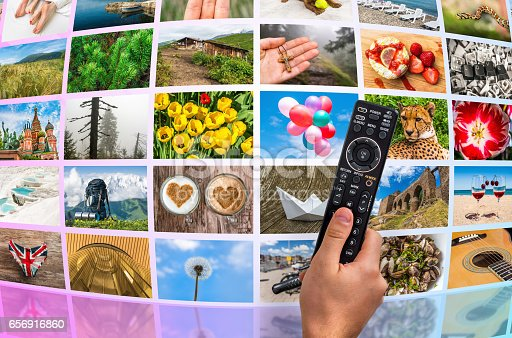 1032516726 istock photo Big multimedia broadcast video wall with remote control 656916860