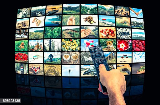 1032516726 istock photo Big multimedia broadcast video wall with remote control 656923436