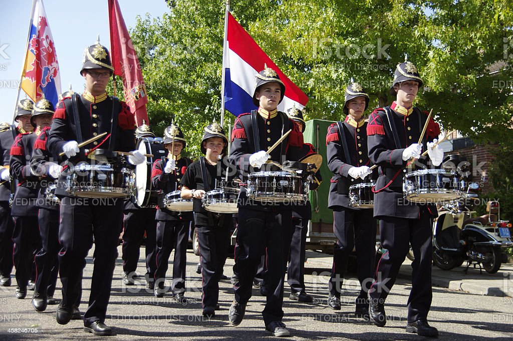 Big music parade in Brunssum royalty-free stock photo