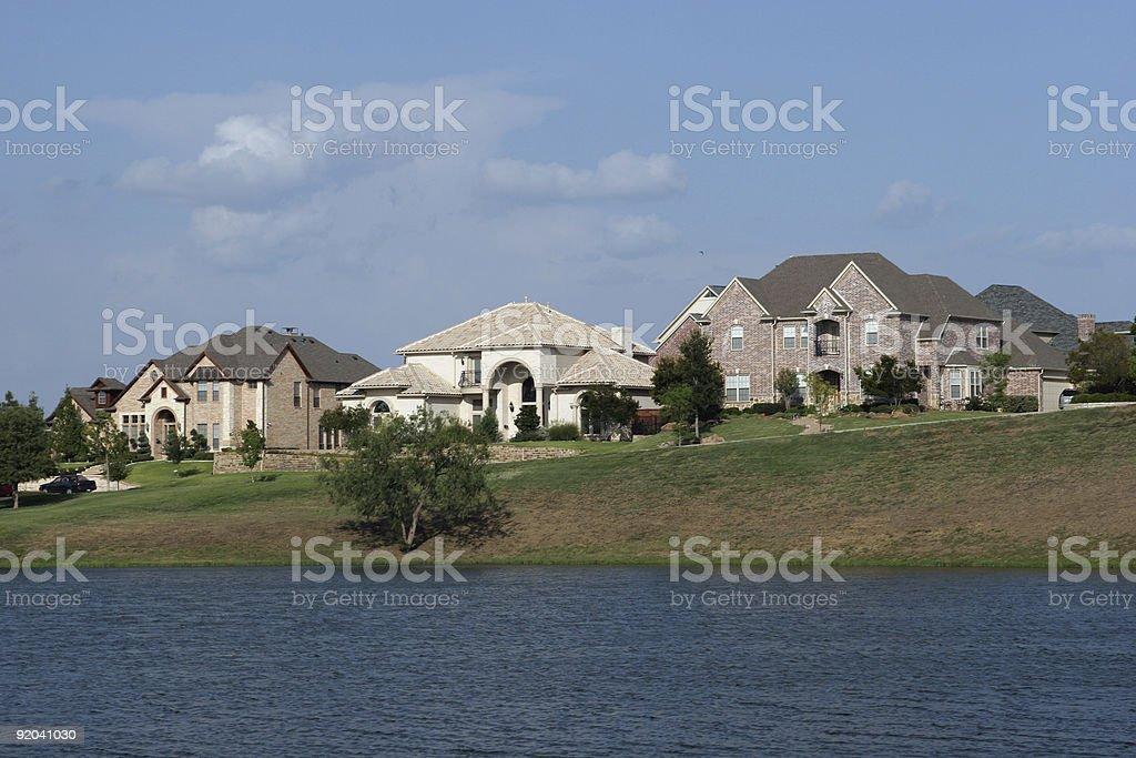 Big neighborhood houses in Dallas TX royalty-free stock photo