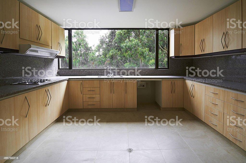 Big new kitchen stock photo