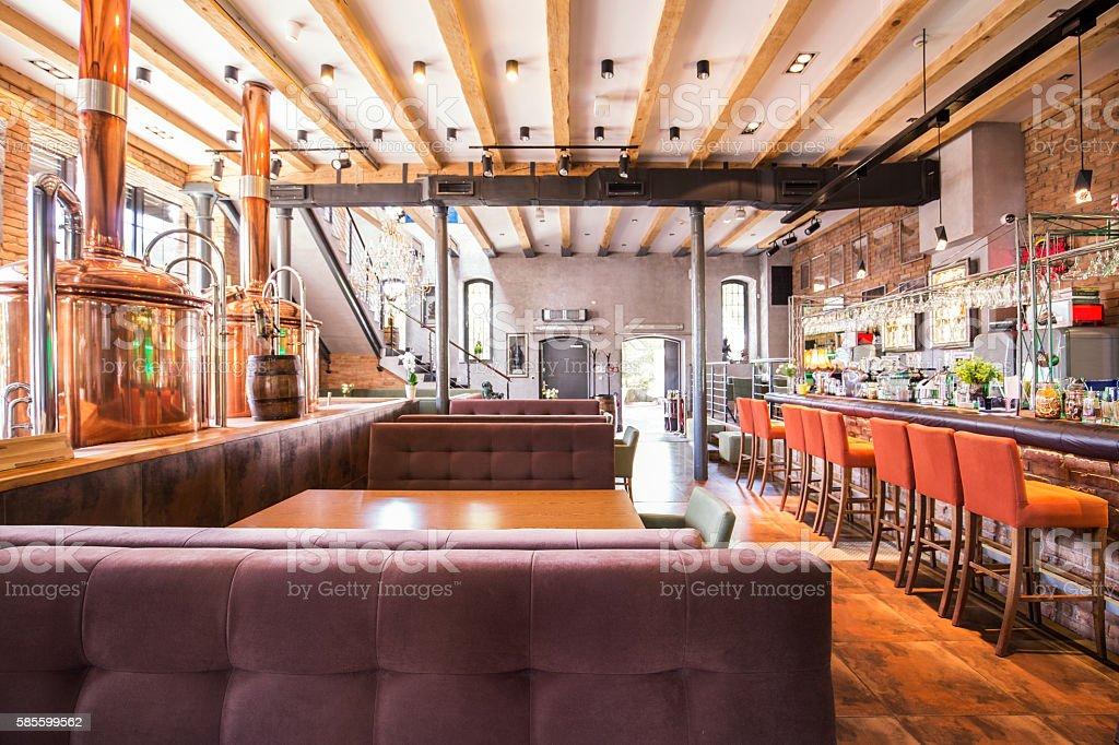 Big new restaurant stock photo