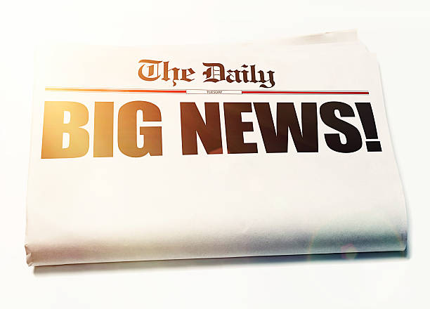Big News! headline with remaining newspaper blank for your message - Photo