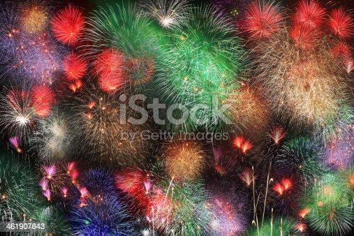 istock Big night fireworks 461907643