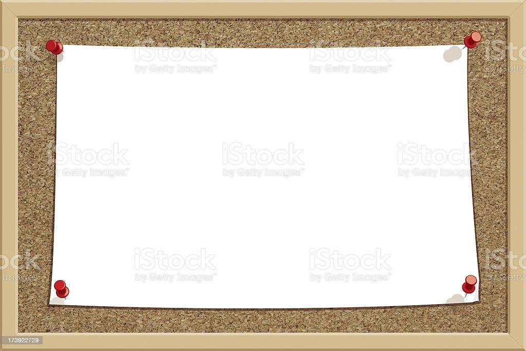 Big Note Corkboard - Horizontal royalty-free stock photo