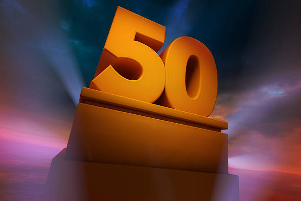 Big Number Fifty stock photo