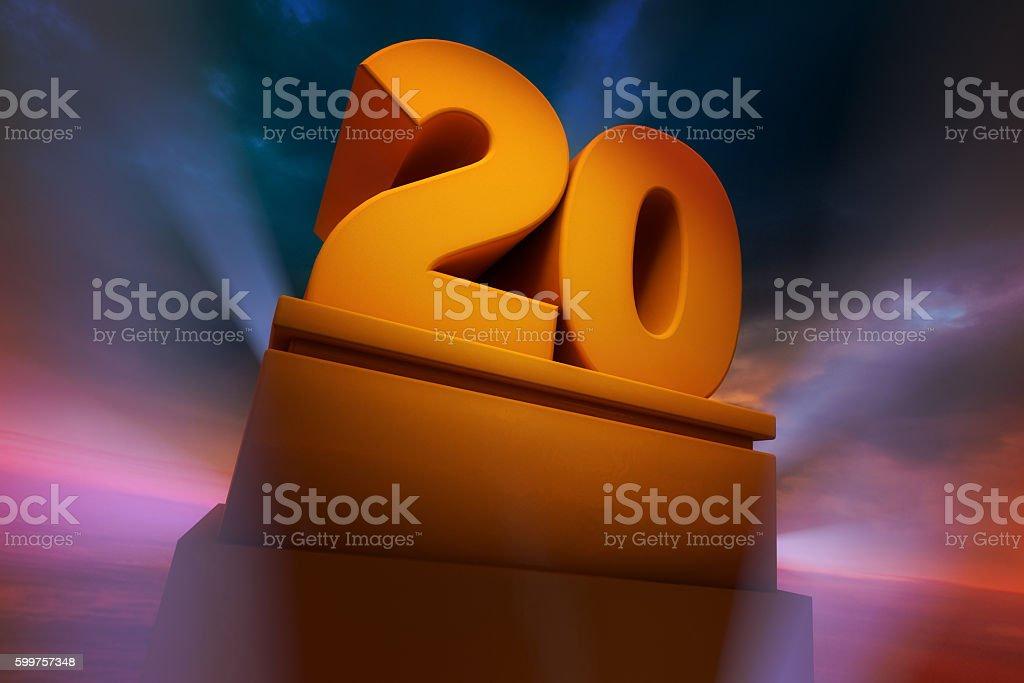 Big Number Twenty stock photo