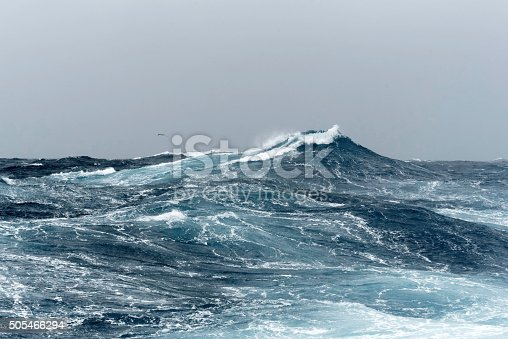 istock Big Ocean Swells in a Stormy Sea 505466294