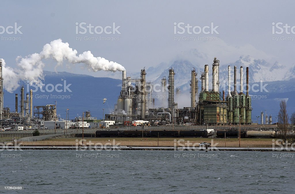 Big Oil Refinery stock photo