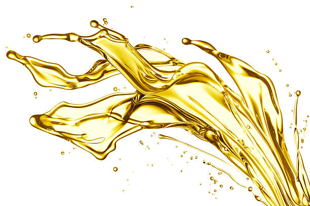 Big oil splash stock photo