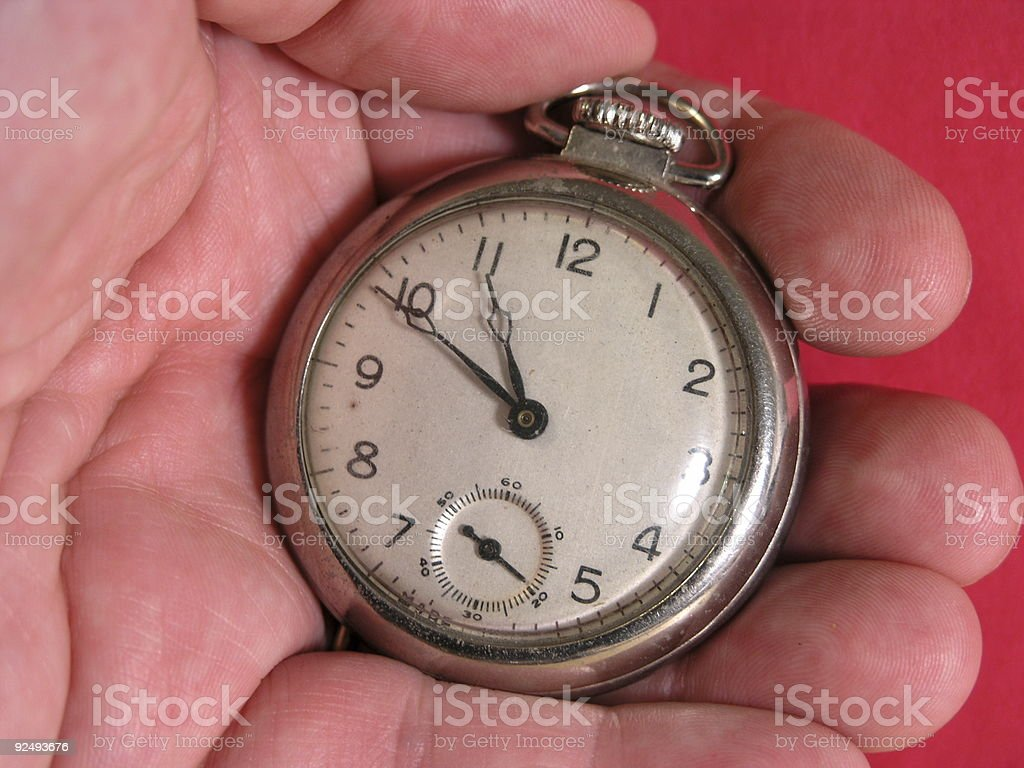 Big Old Pocket Watch royalty-free stock photo