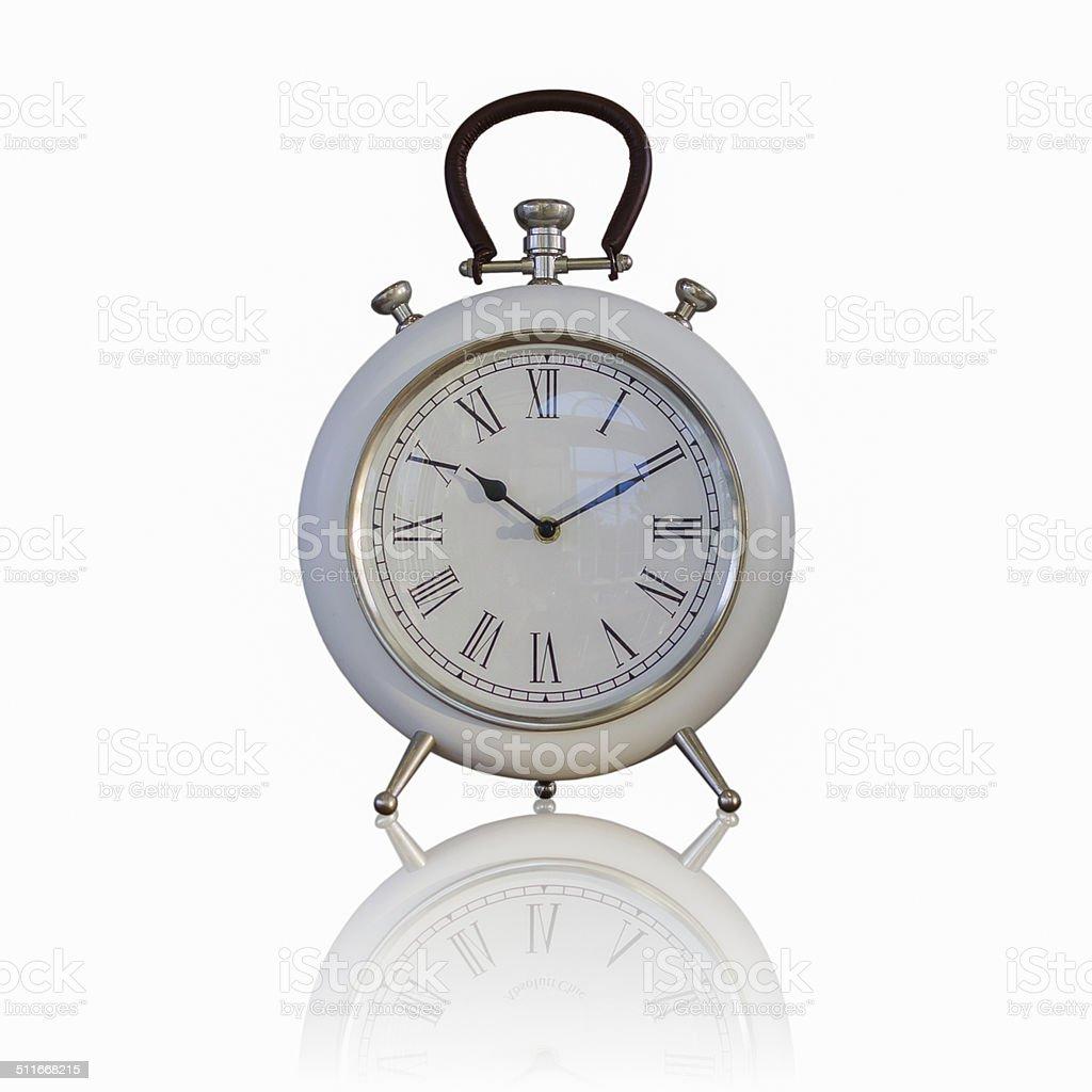 Big old vintage clock stock photo