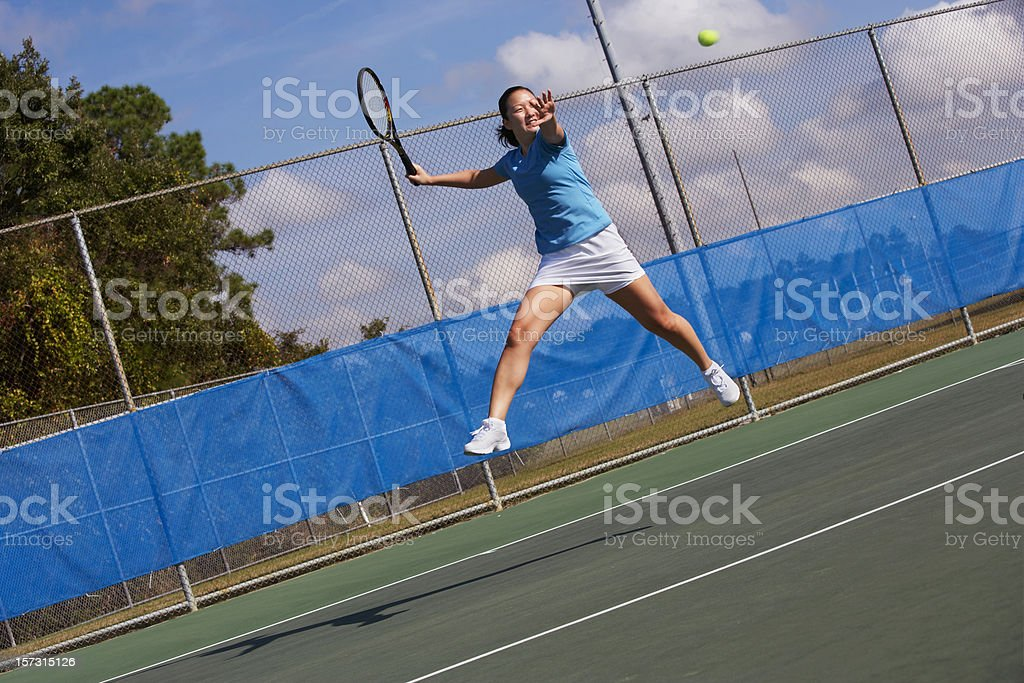 Big open stance forehand royalty-free stock photo