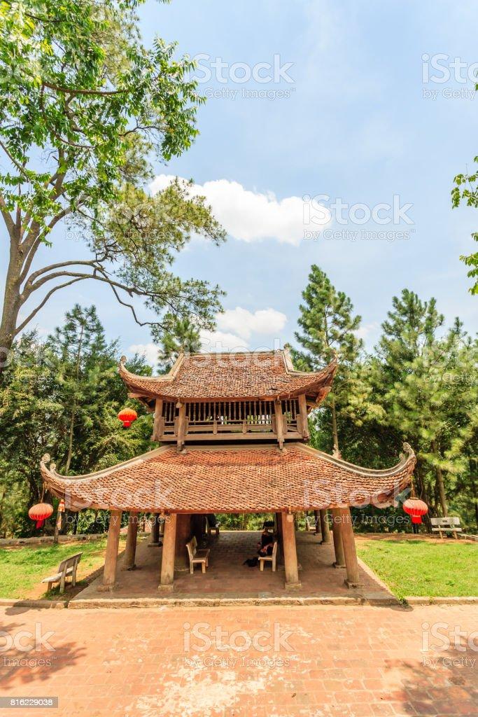 Big pagoda at Hanoi stock photo
