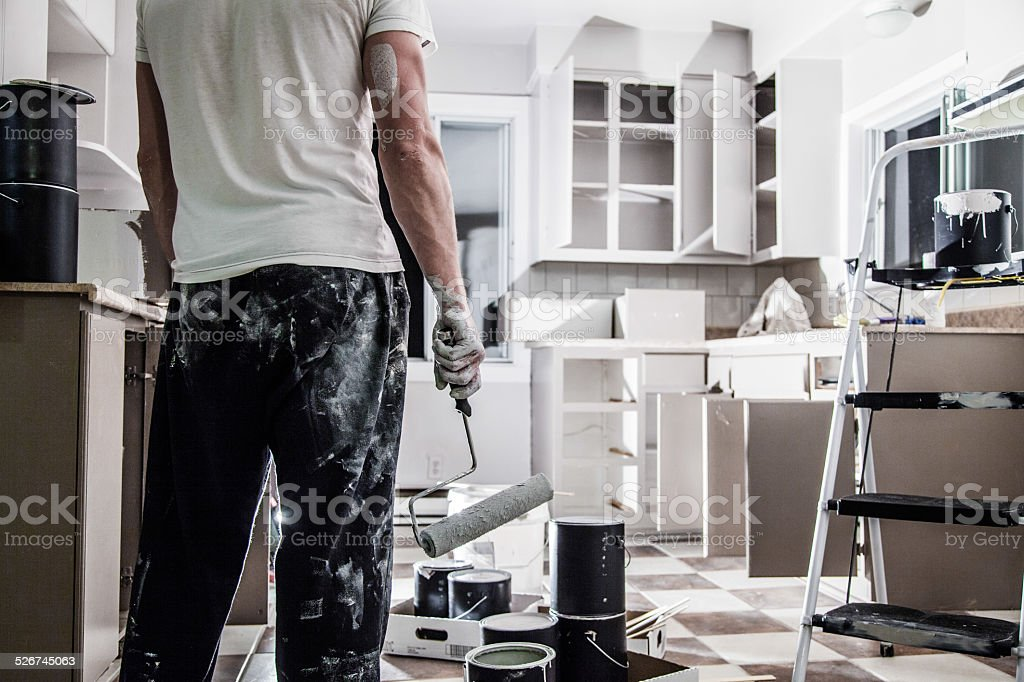 Big Painting Job ! stock photo