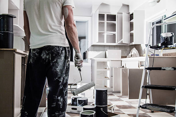 big painting job ! - painter stock photos and pictures