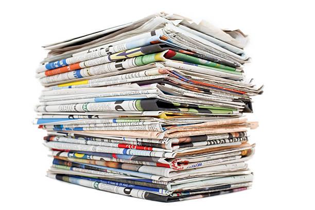 Big paper stack stock photo