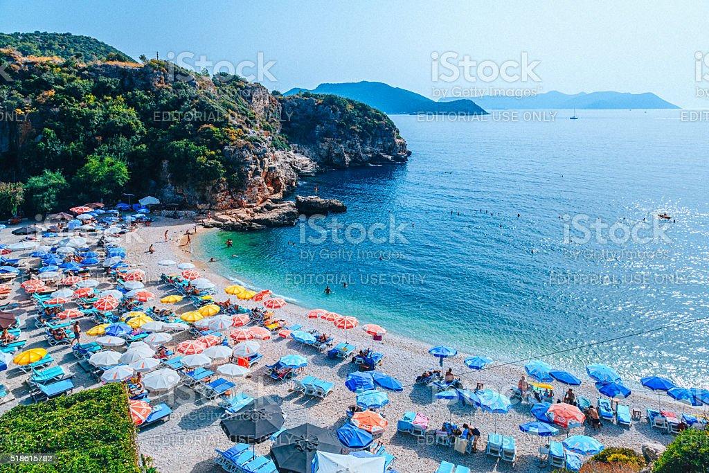 Big Pebble Beach - Paradise in Kaş stock photo