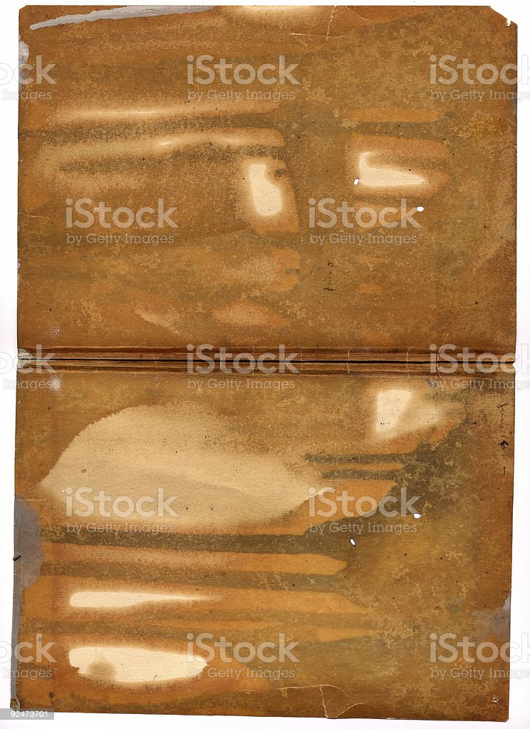 Big piece of ruined paper royalty-free stock photo