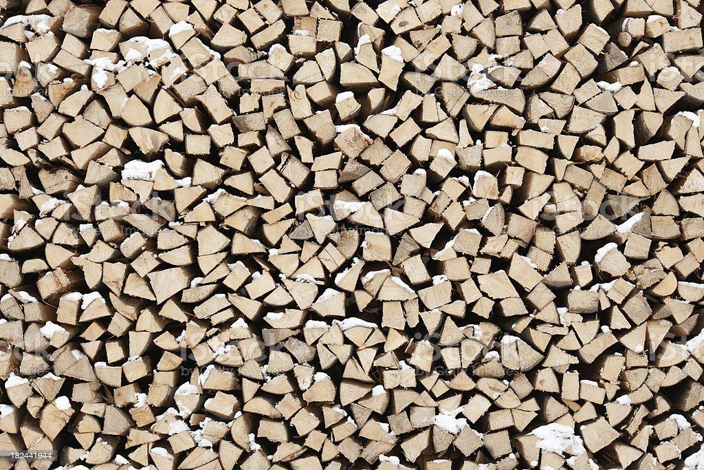 Große Haufen von geschnitten Feuer Holz-Winter-Angebot (XXXL – Foto