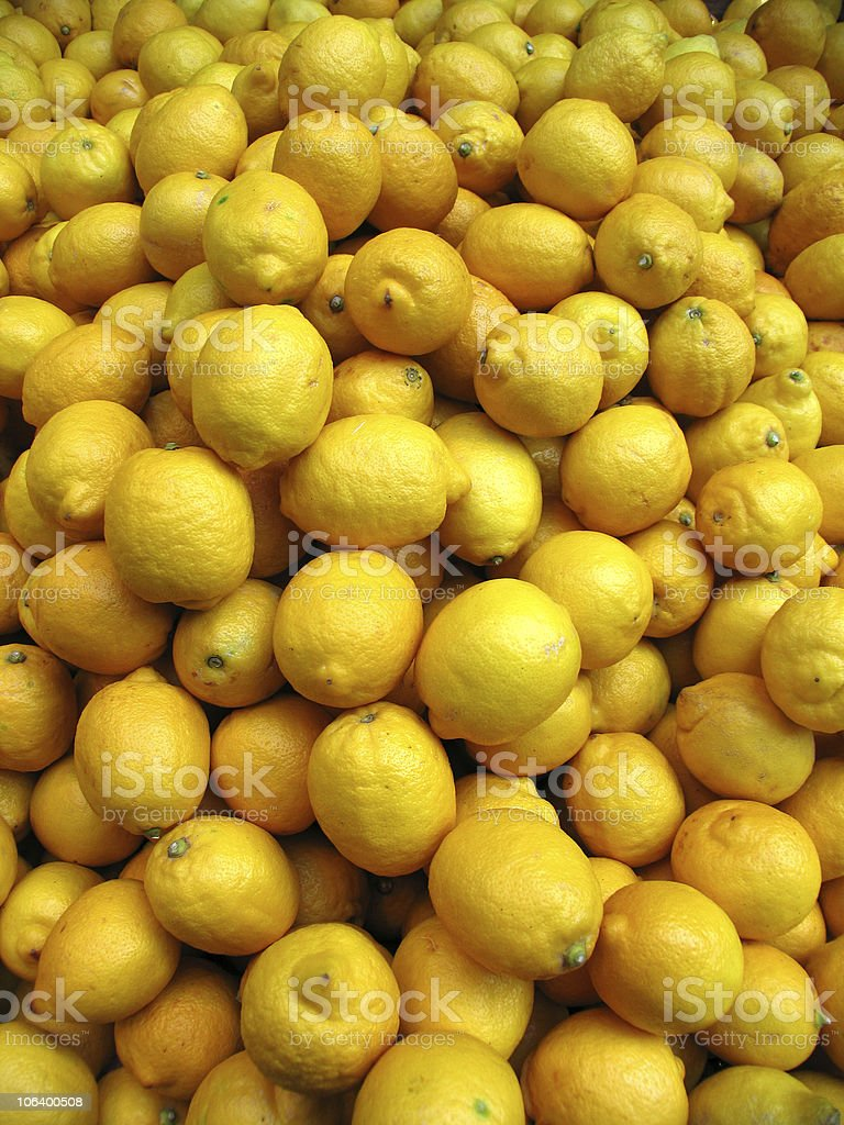 big pile of lemons royalty-free stock photo