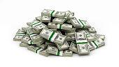 istock big pile of money american dollar bills on white background 626672964
