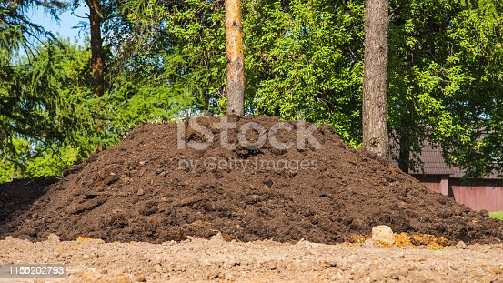 Big pile of soil compost