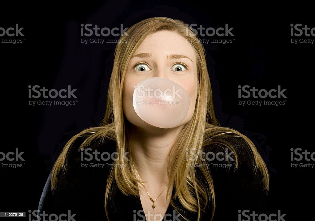 big pink bubble royalty-free stock photo