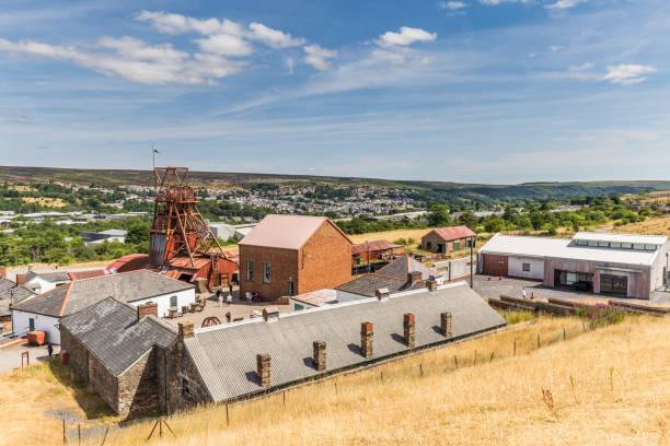 Big Pit industrieterrein in Wales, UK foto
