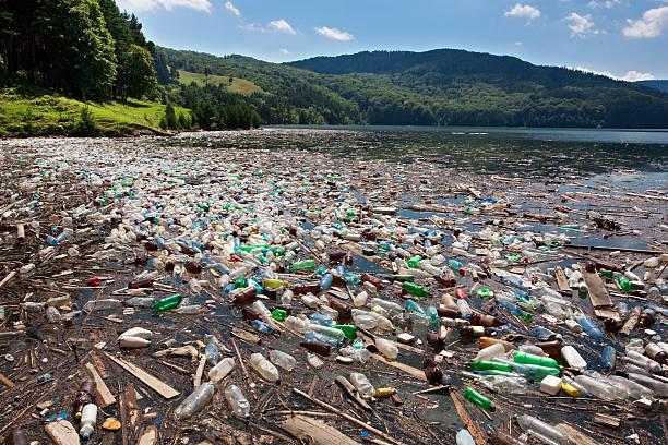 big plastic pollution stock photo