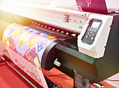 Big plotter printer with LED