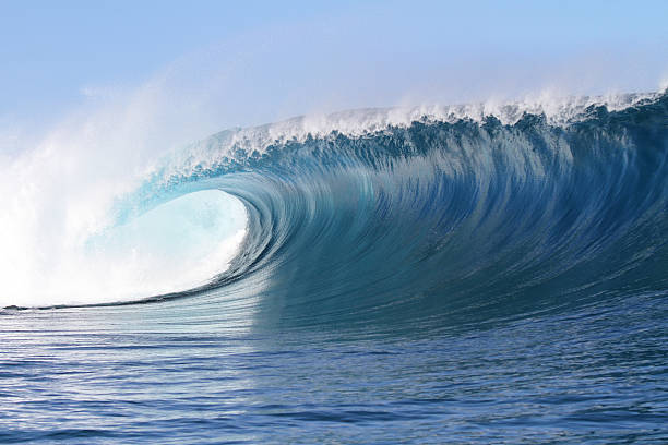 big powerful wave - wave stock photos and pictures