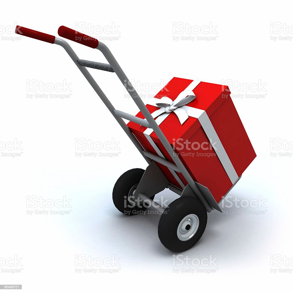 Big Present delivery royalty-free stock photo