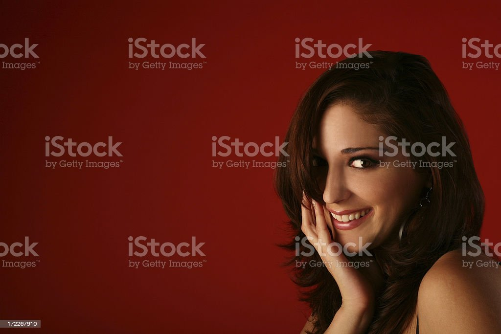 Big pretty smile royalty-free stock photo