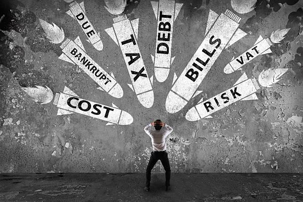 großes problem finanzieller - wirtschaftsrecht stock-fotos und bilder