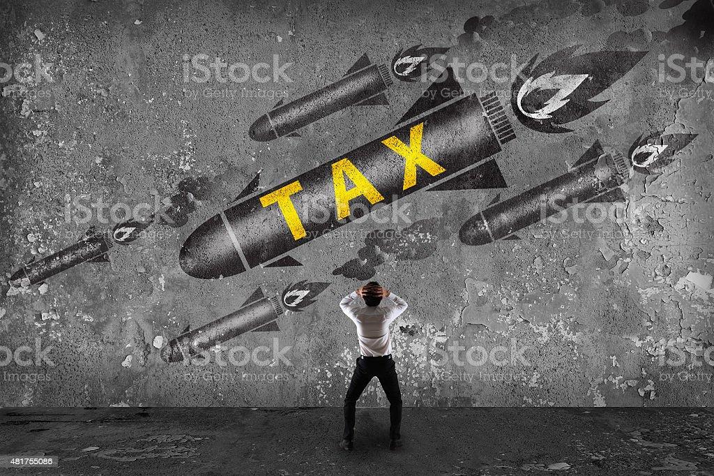Big problem financial, tax stock photo
