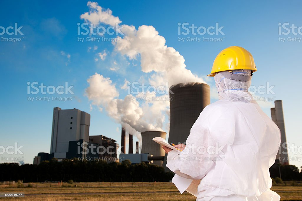 Big problem with power plant royalty-free stock photo