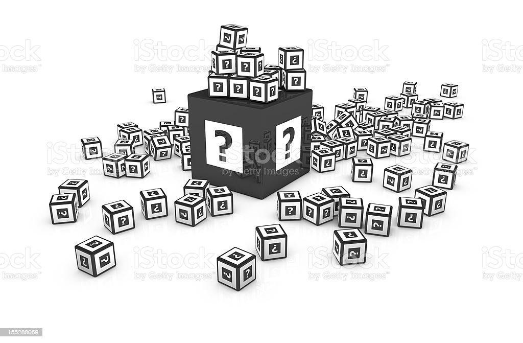Big Question mark Cube, Concept Image royalty-free stock photo