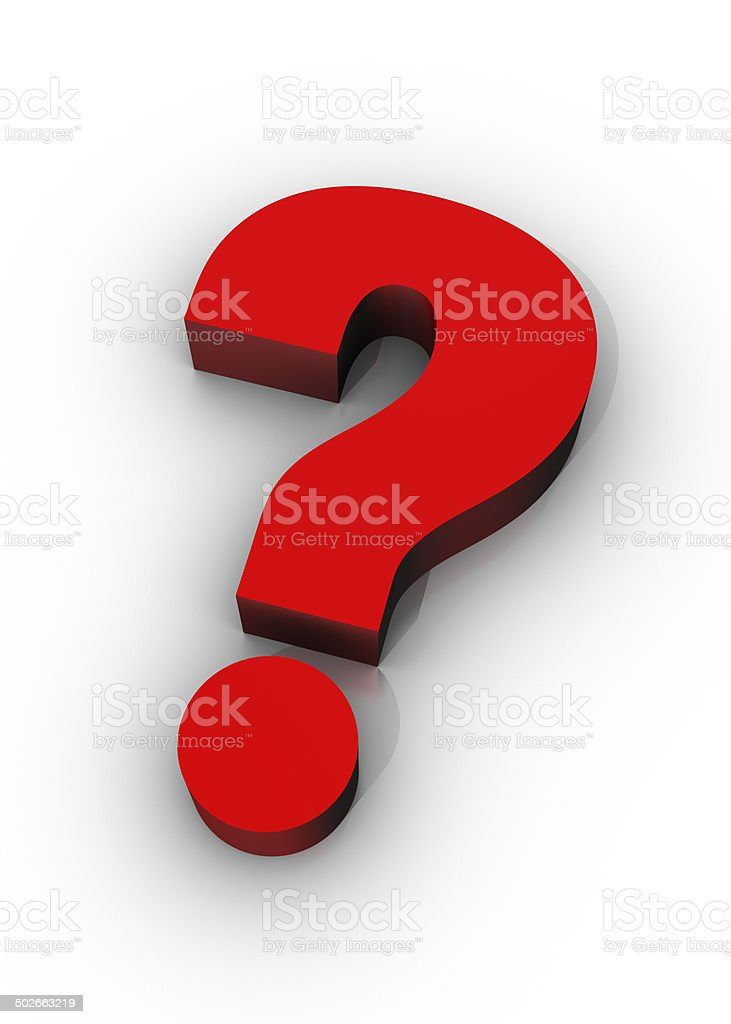 Big Question stock photo