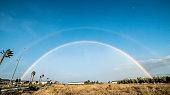 istock big rainbow on a clear day 1299344069