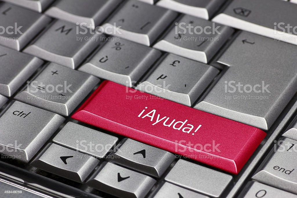 Big red ayuda key stock photo