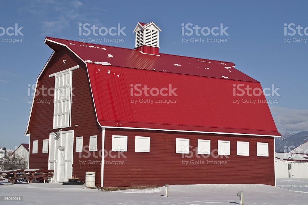 Big Red Barn stock photo