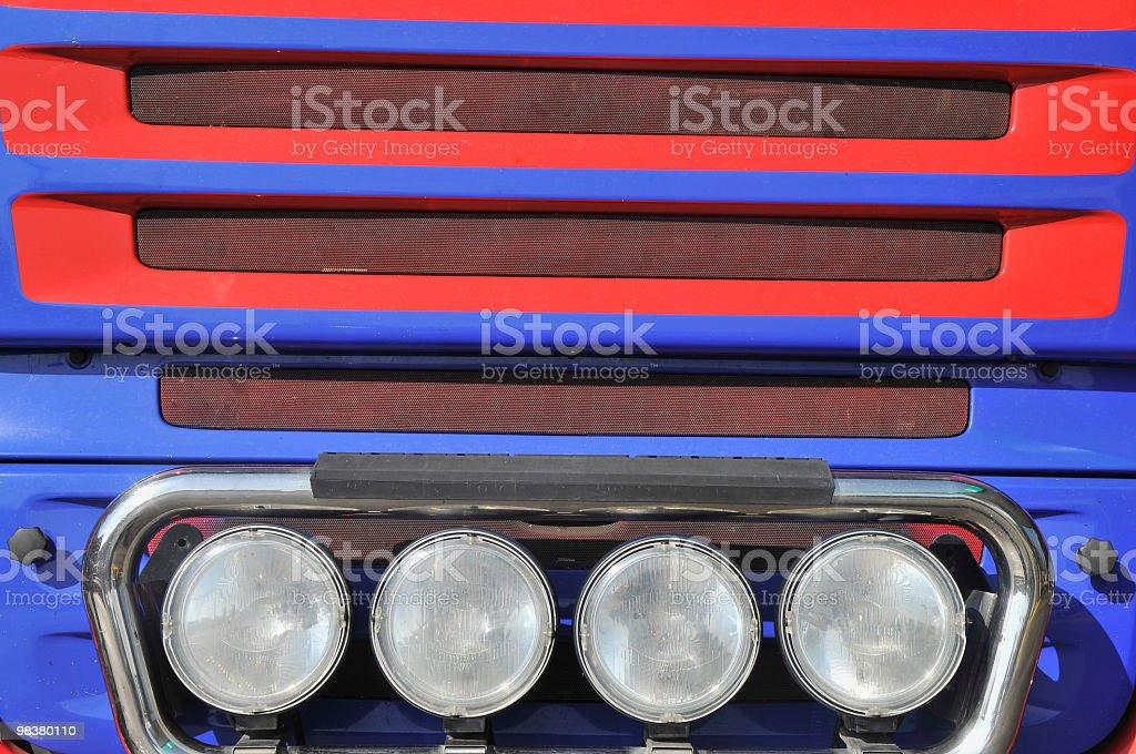 Grande rosso BlueTruck foto stock royalty-free
