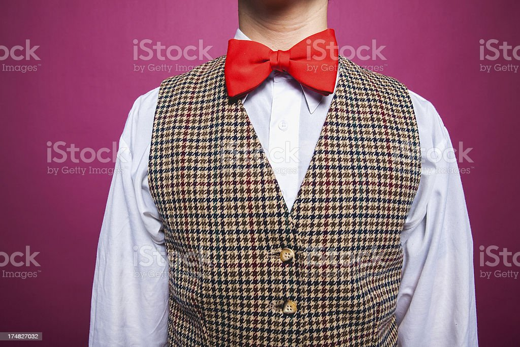 Big Red Bow tie Close Up royalty-free stock photo
