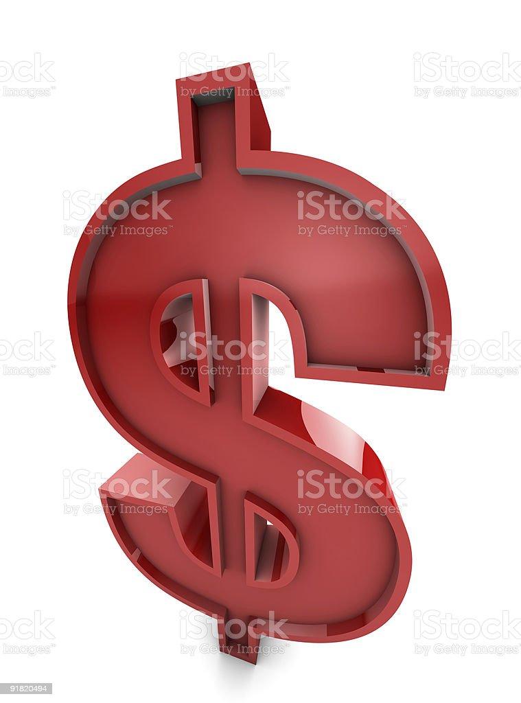 Big red buck royalty-free stock photo