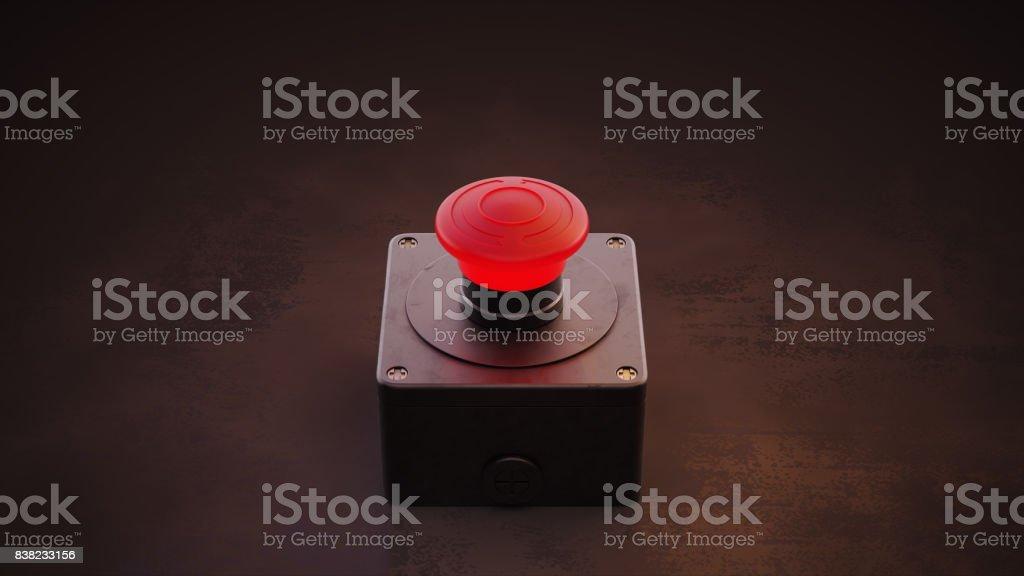 Gran botón rojo - foto de stock
