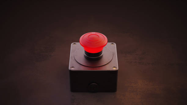 Big Red Button stock photo