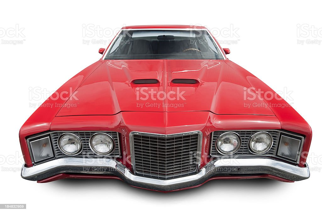 Big Red Car from the 70's royalty-free stock photo